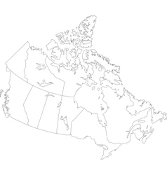 Canadian map Royalty Free Vector Image VectorStock