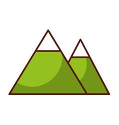 shadow mountain cartoon vector image