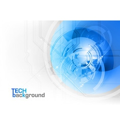 tech background blue corner round vector image vector image