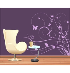 wall decoration vector image