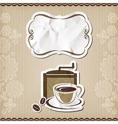 Coffee retro menu vector image