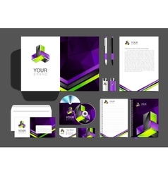 corporate identity creative color template design vector image vector image