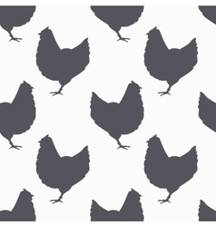Farm bird silhouette seamless pattern Chicken vector image