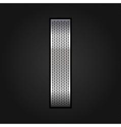Letter metal chrome ribbon - I vector image vector image