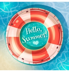 Swimming ring on water vector image vector image