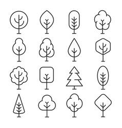 tree line icon vector image vector image