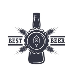 Bottle of Beer hops and malt vector image vector image