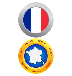 buttons as a symbol of France vector image