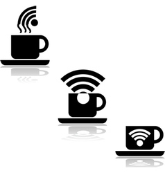 Coffee wifi vector image vector image