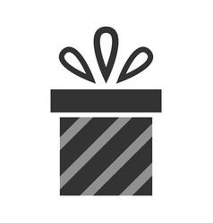 gift christmas symbol black flat icon vector image vector image