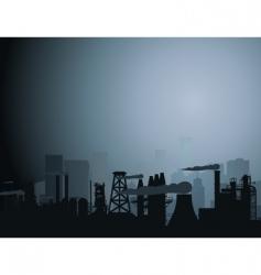 industrial city vector image vector image