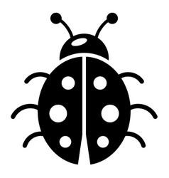 ladybug icon simple black style vector image