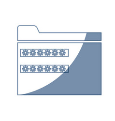 password security system file access vector image vector image