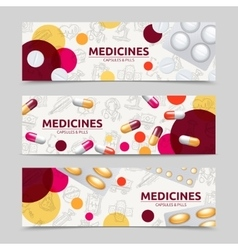 Pills Banner Set vector image