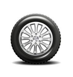single car tire vector image