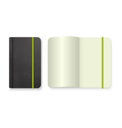 Top view notepad template realistic blank vector