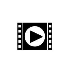 video marketing solid icon vector image vector image
