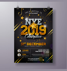 2019 new year party celebration poster template vector