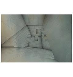 3d futuristic labyrinth shaded interior vector