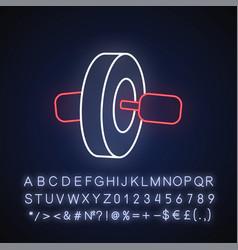 Ab roll neon light icon vector