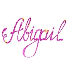 Abigail name lettering tinsels vector image