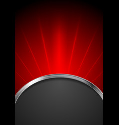 Abstract dark red tech background vector image