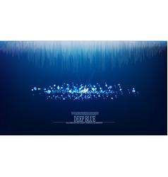 Abstract jewel underwater background vector