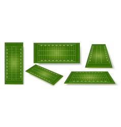 american football field realistic ball sport vector image