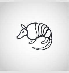 armadillo logo icon design vector image