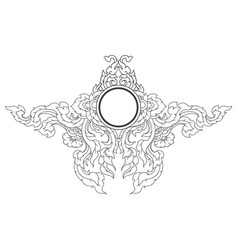 Artistic lined on a white vector