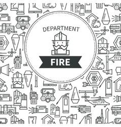 Banner Fire Department vector image