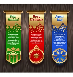 Banners with Christmas greetings and signs vector image