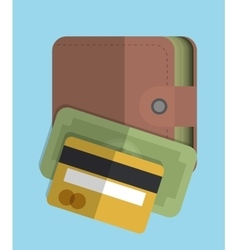 Bill and wallet icon Money design vector image