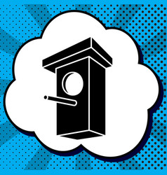 birdhouse sign black icon in vector image