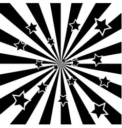 black and white star burst vector image
