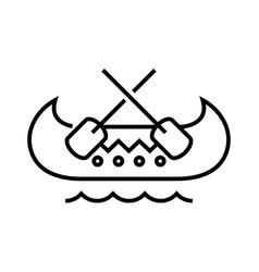 boating line icon concept sign outline vector image