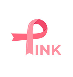 breast cancer awareness month pink minimalistic vector image