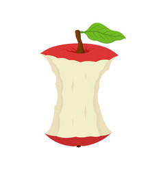 Cartoon stub of apple garbage of fruit vector