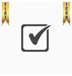 Check list button mark in box sign vector image
