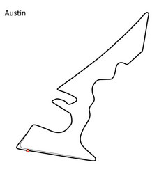 Circuit of the americas vector