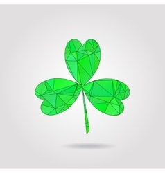 Clover leaf low poly style vector image