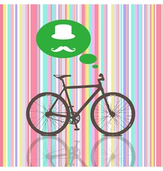 Colorful Vintage Bicycle vector image vector image