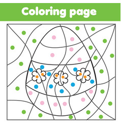 Coloring page for kids educational children game vector
