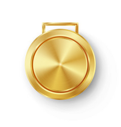 competition games golden medal template vector image