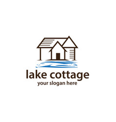 Cottage with water logo vector