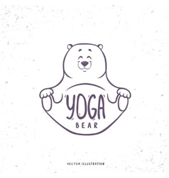 Cute yoga bear vector