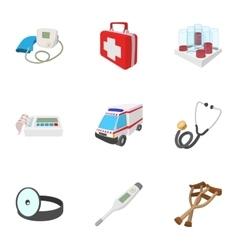 Diagnosis icons set cartoon style vector