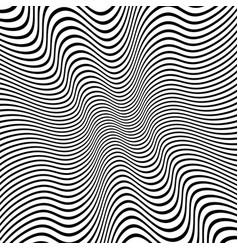 Distorted lines background vector
