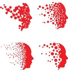 Dot and circle face set vector