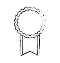 Empty award ribbon vector